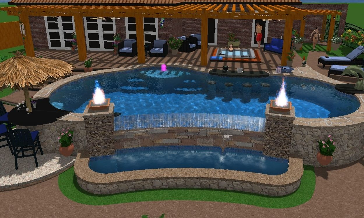Swimming pools custom pool builder tyler texas gunite - Custom above ground pool ...