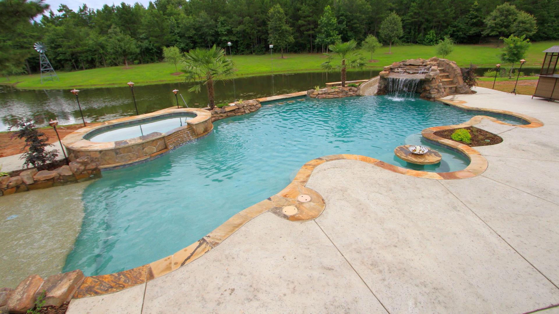 custom pool builder tyler texas gunite pool construction above