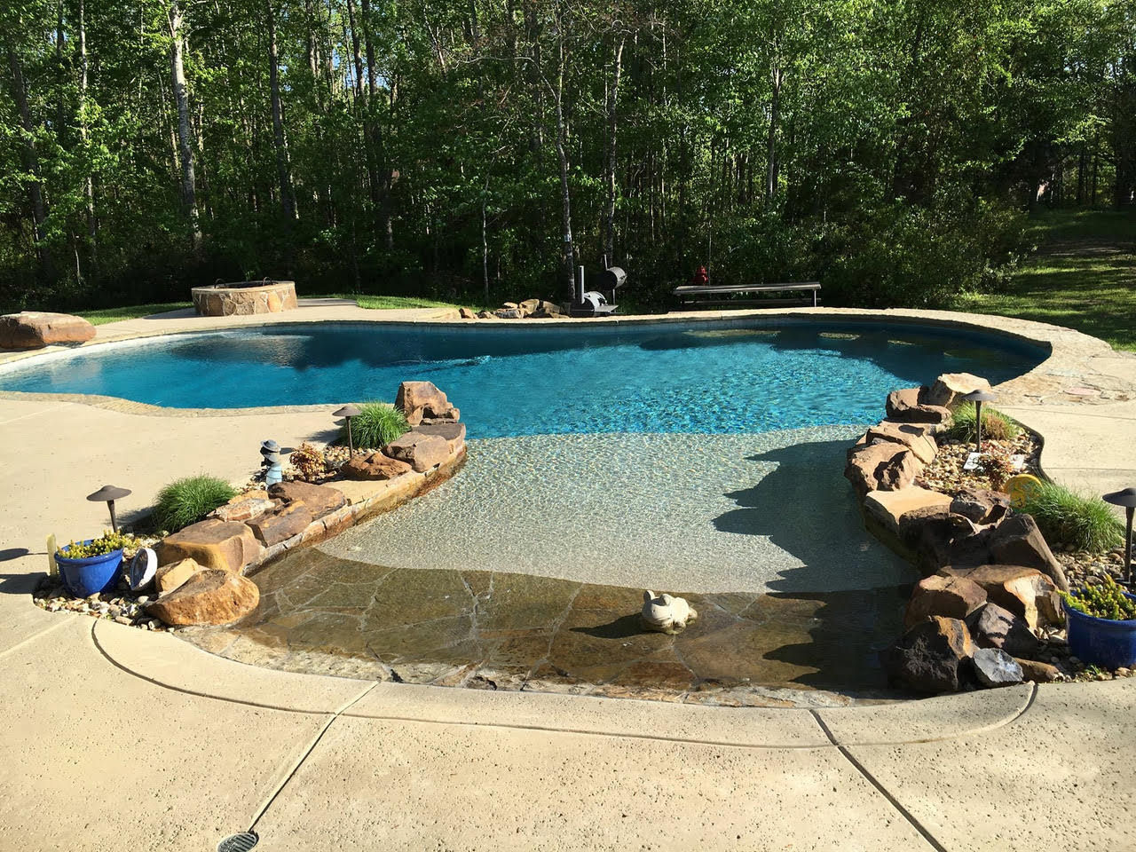 Custom Pool Builder Tyler Texas Gunite Pool Construction Above